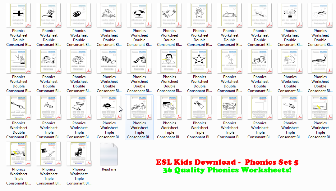 Esl Downloads Kids Puzzles Flashcards Board Templates. Esl Phonics Workbook 5 Double Triple Blends. Kindergarten. Esl Worksheets For Kindergarten Pdf At Mspartners.co
